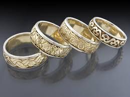 carved wedding bands men s gold wedding bands relief carved wedding bands flickr