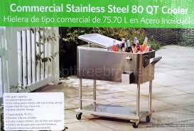 Decorative Coolers For The Patio by 80 Quart Stainless Steel Party Cooler