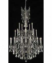 Large Foyer Chandelier Elegant Lighting 9225g38pw Gt Rc Rosalia 25 Light Large Foyer