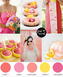 Coral Wedding Centerpiece Ideas by Coral Pink And Yellow Citrus Wedding Summer Wedding