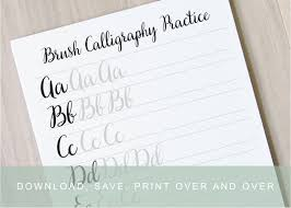 calligraphy writing paper brush lettering worksheets calligraphy tutorial alphabet zoom