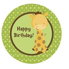 giraffe cake topper jungle safari giraffe edible cake topper decoration