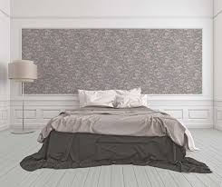 Versace Home Interior Design Wallpaper Versace Home Floral Grey Silver Grey Glitter 34326 5