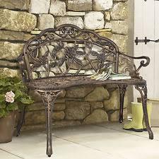 Garden Treasures Patio Bench Cast Iron Garden Furniture Ebay