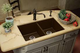 Brown Kitchen Sink Rustic Kitchen Standard Kitchen Sink With Drainboard Beautiful