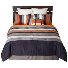 blue and orange bedding striped 8 piece bedding set navy orange opens in a new window