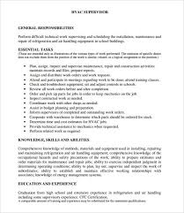 Material Handler Sample Resume by Hvac Technician Resume Examples