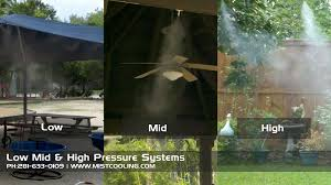know about low mid and high pressure misting systems mist
