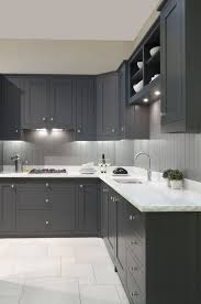 painted grey kitchen cabinet ideas grey kitchen cabinets paint colors ideas 9 inspira spaces