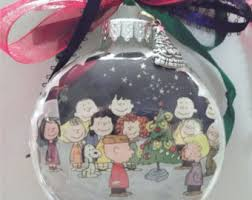 Charlie Brown Christmas Tree Red Ornament peanuts ornament etsy