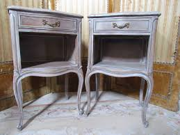 French Provincial Furniture by Vintage French Provincial Night Stands Bed Tables By Drexel Grey