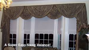 Making A Window Valance A Super Easy Swag Valance Anyone Can Make Youtube