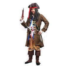 Jack Sparrow Halloween Costume Jack Sparrow Costume Pirates Caribbean Cosplay Pirate Cloth
