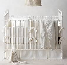 washed organic linen nursery bedding collection rh baby u0026 child