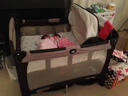 Graco Pack N Play With Changing Table Pretty Pink And Brown Graco Pack N Play With Changing Table