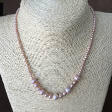 small pearl necklace images Pink pearl strand natural pearl necklace bridal necklace single jpeg