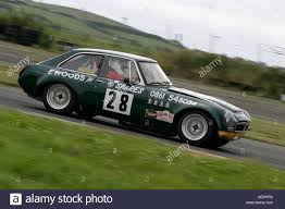 british racing green pamela cochrane in her british racing green 3 5 mgb gt v8 at stock