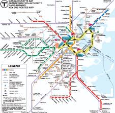 Red Line Mbta Map by Boston Subway Map With Streets My Blog