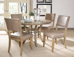 dining room chairs with leather seats hillsdale charleston wood 5pc dining set w parson chairs 4670dtbwc4
