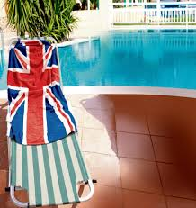 German British Flag Victory As Brits Can Finally Beat German Tourists To Hotel Sunbeds