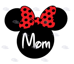 mom shirt disney minnie mouse cute red bow married mickey