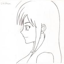 anime side face view anime side view cartoon side face drawing