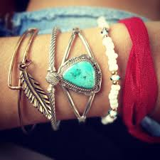 stacked bracelets setting the barre