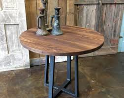 Reclaimed Wood Bistro Table Kitchen Table Reclaimed Wood Cafe Table Industrial