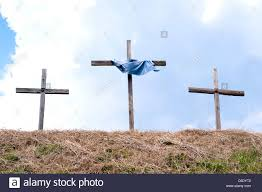 roadside crosses 3 wooden roadside crosses carolina usa stock photo