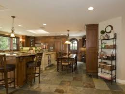 ideas for kitchen floor slate tile kitchen floor with square shape
