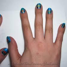 beautypopstop playing with polish spongebob nail art starring my