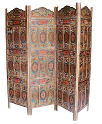 5 panel room divider four panel hand carved indian screen room divider