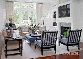 Restoration Hardware Madeline Chair by Southern California Home With A Blue And White Palette