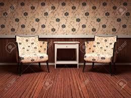 Wohnzimmer Interior Design Interior Design Der Modernen Wohnzimmer Holzboden Florale Tapete
