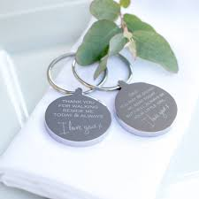 wedding thank you gifts giving me away wedding keyring by oh so cherished