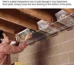 55 unfinished basement storage solutions unfinished basement