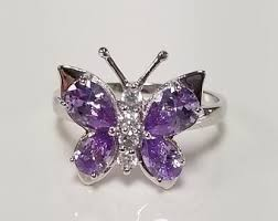 blue butterfly rings images Butterfly ring etsy jpg
