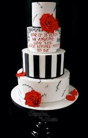 the nightmare before wedding cake contemporary design on