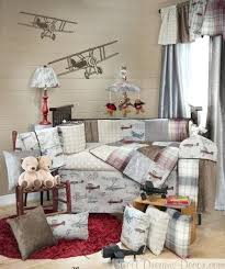 Airplane Crib Bedding Baby Boy Airplane Nursery Reclaimed Wooden Crib Vintage Airplanes