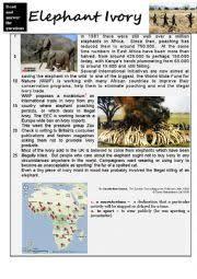 english exercises wild animals 1 reading