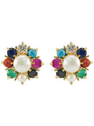 ear rings navratan womens earrings d36 st01 cilory