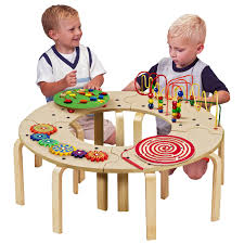 wooden activity table for astounding anatex mini circle of fun activity table hayneedle kids