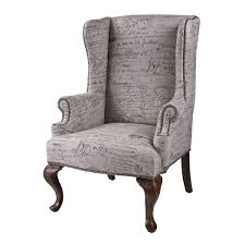 Queen Anne Wingback Chair Leather Furniture Elegant Chair Design With Excellent Wingback Chairs For