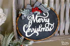 christmas signs wood slice christmas signs with free template design dazzle