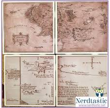 map from lord of the rings lord of the rings hobbit middle earth thorin s map book coasters