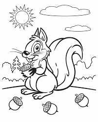 kleurplaat squirrel sunny free printable coloring
