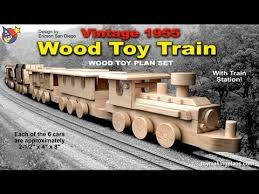 wood toy plans vintage 1955 wood toy train youtube