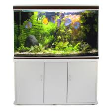 fish tank cabinet aquarium tropical marine large white 4ft litre