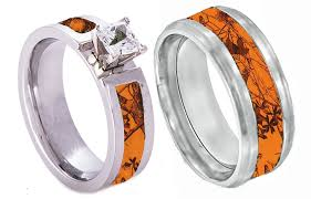 mens camo wedding rings his and hers camo wedding rings