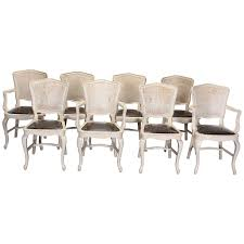 Slat Back Dining Chairs Set Of Four Slat Back Caned Dining Chairs For Sale At 1stdibs